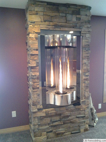 Cyclone Stone Fireplace