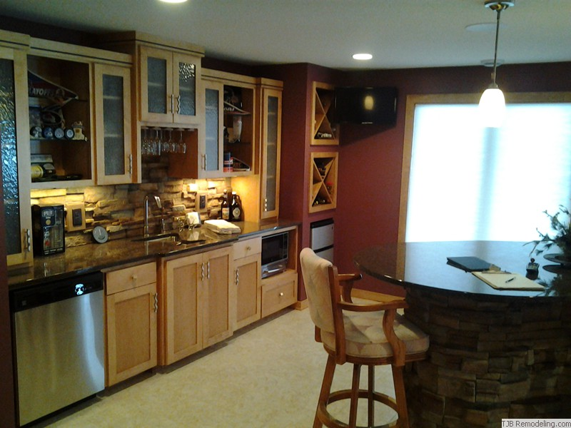 Custom wet bar cabinets
