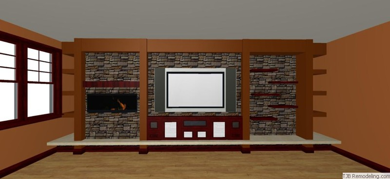 Entertainment Wall Design