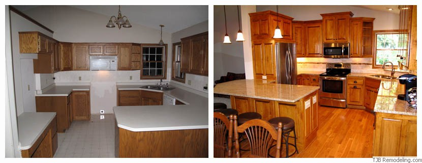 Remodel Kitchen Before And After Best Oakdale Kitchen Remodel With Peninsula Design Inspiration