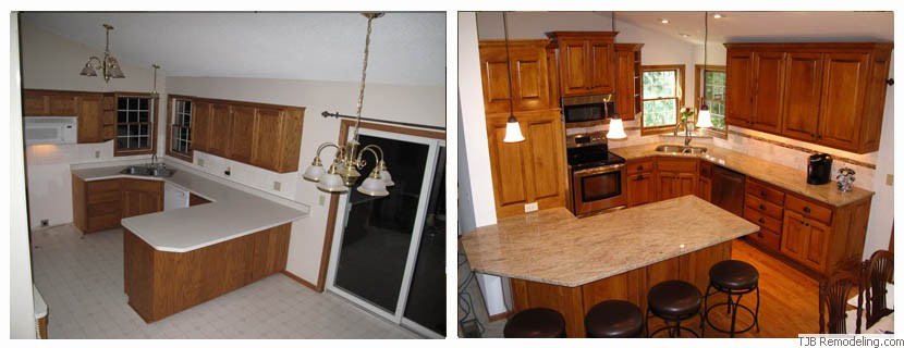 Kitchen Before and After Remodel