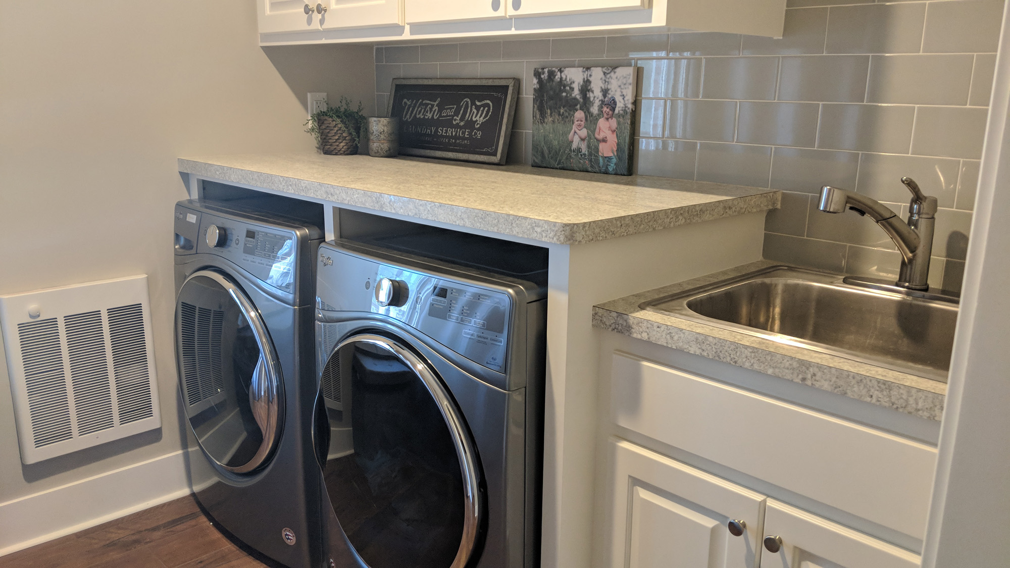 Under counter front load washer & dryer