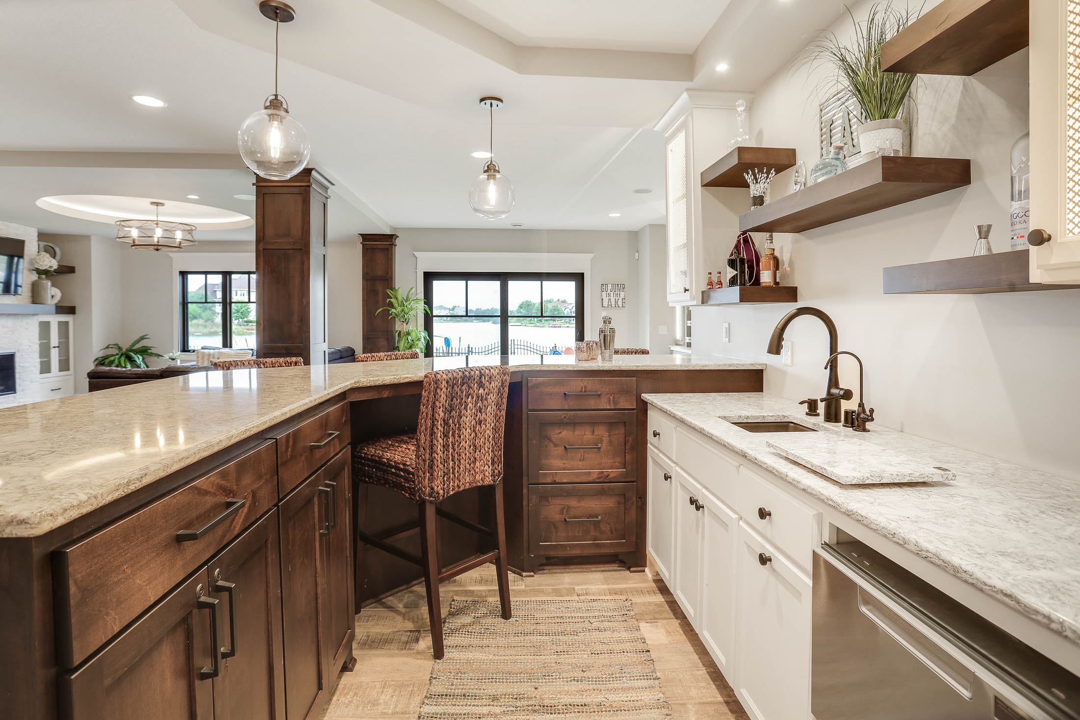 Knotty Alder- shaker style island cabinetry