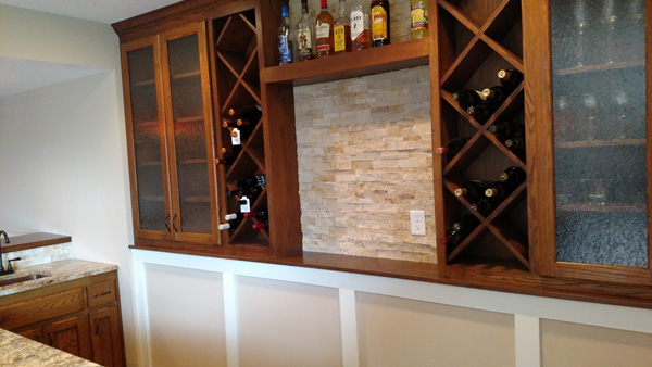 Wet Bar Custom Wall Cabinets