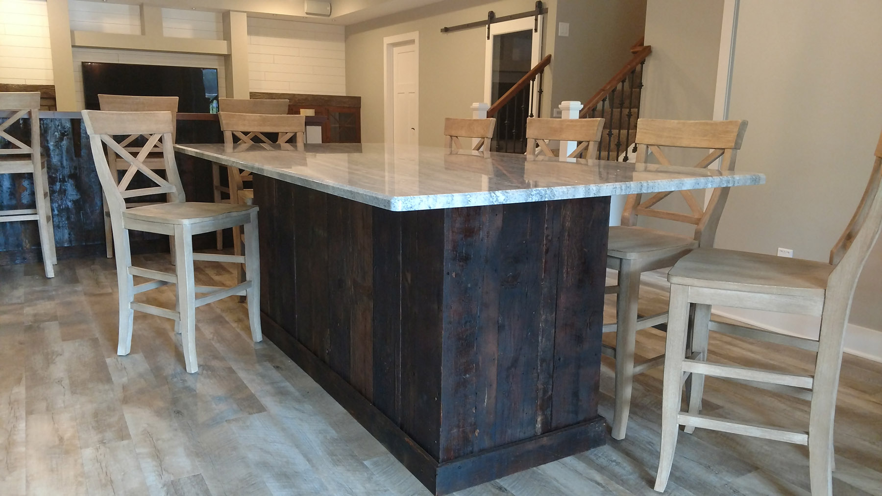 Huge center island bar table