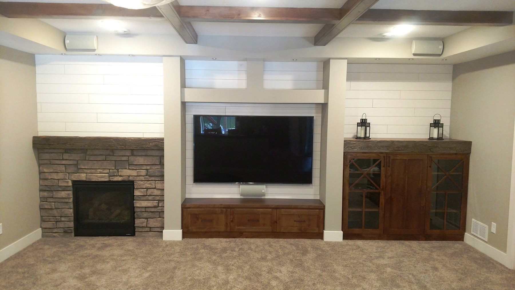 Media Wall w/Fireplace