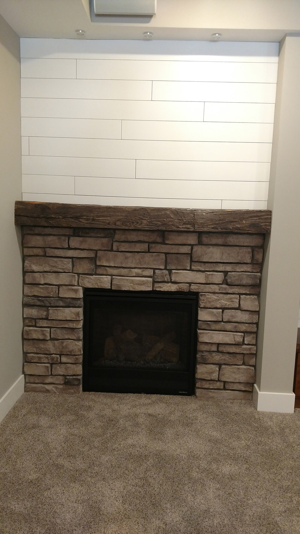 Stone Surround Fireplace