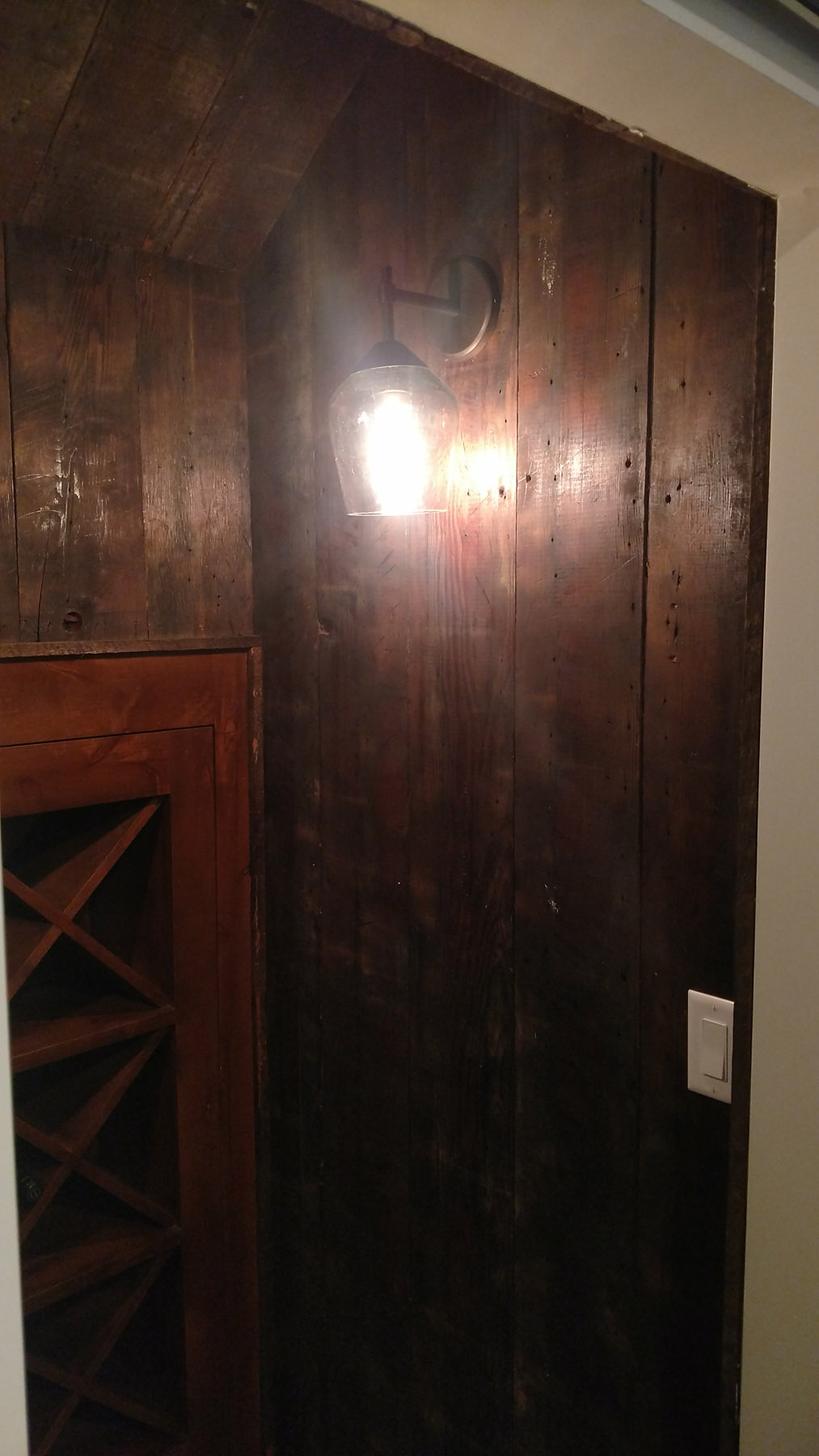 Reclaimed barn-wood accents