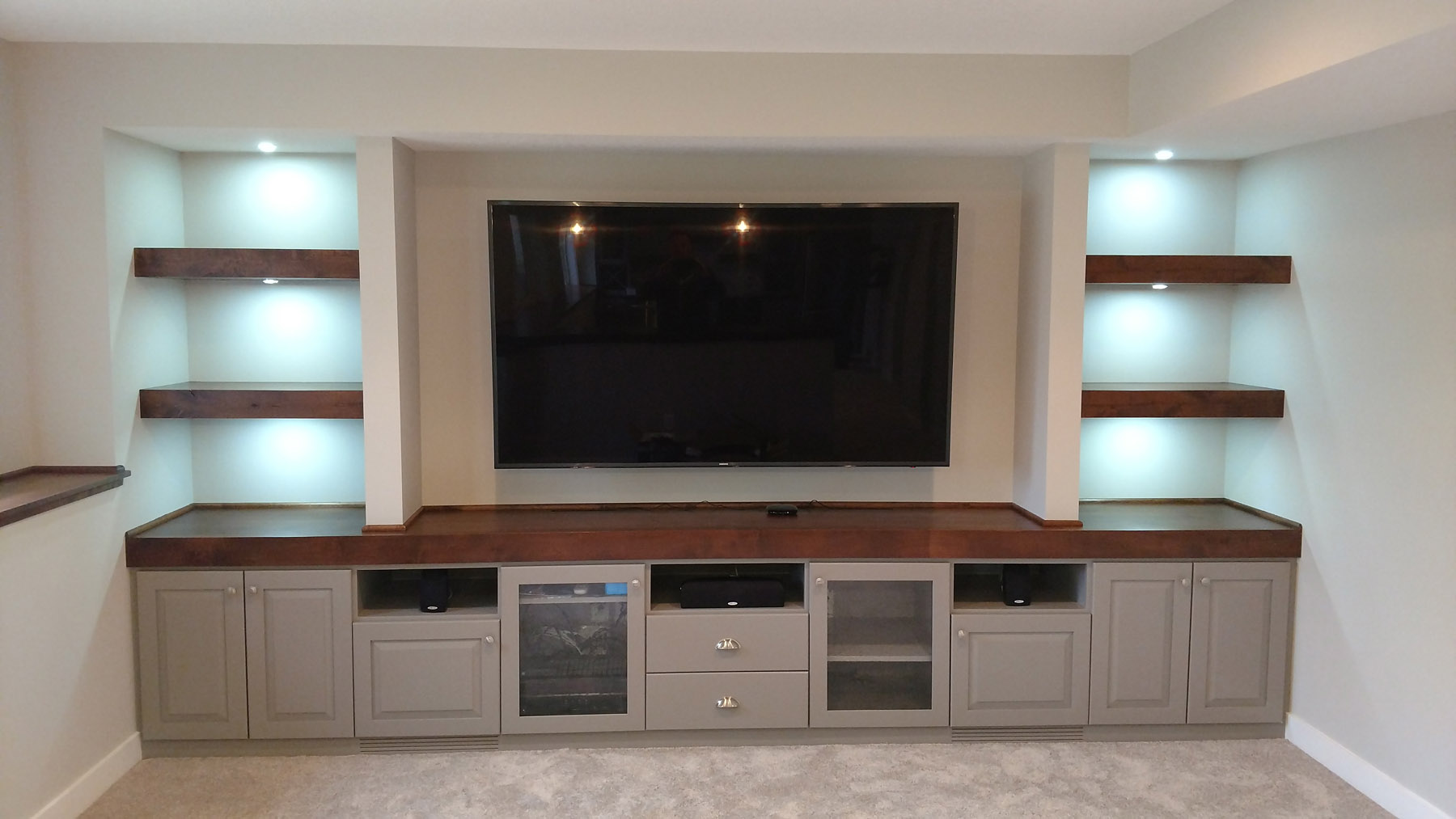 Knotty Alder & Enameled Custom Cabinets