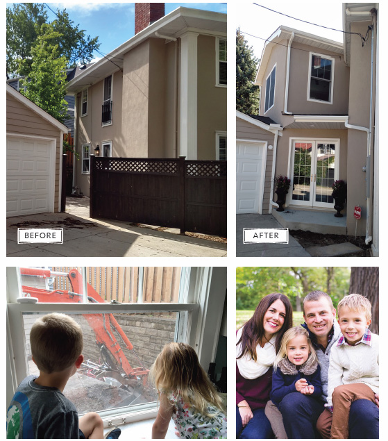 Before and After Remodel Photos and Family