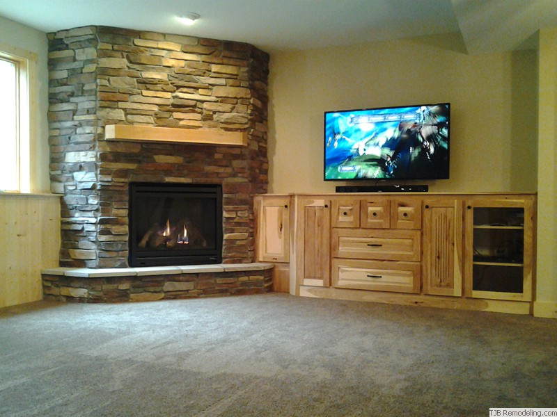 Firepalce and Entertainment Center