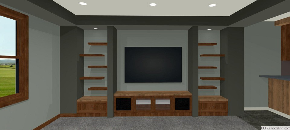 TV Wall with Built-ins