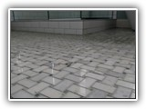 Basket weave floor tile