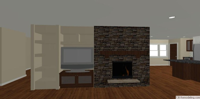 Family Room Fireplace & Niche Design