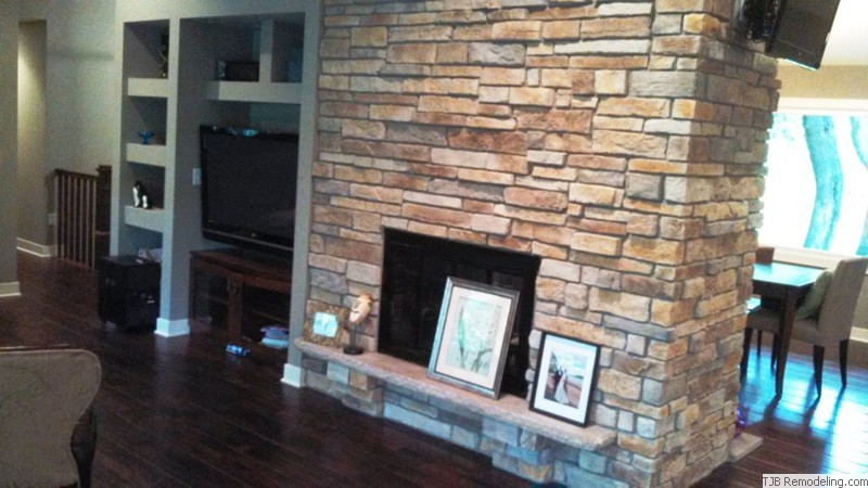 Family Room Fireplace & Niches Finished