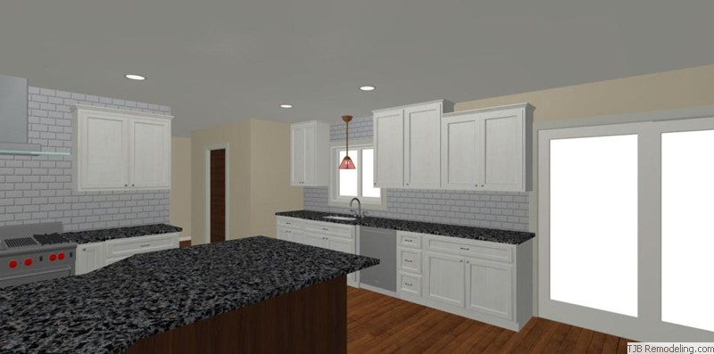 Kitchen, Sink Wall Design Plan