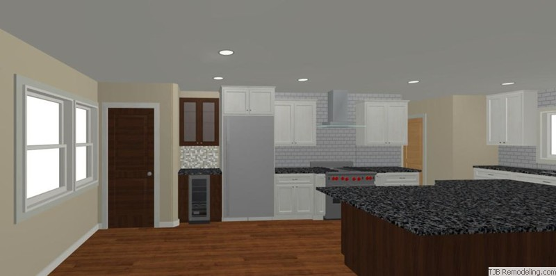 Kitchen, Stove Wall, Dry Bar Design Plan