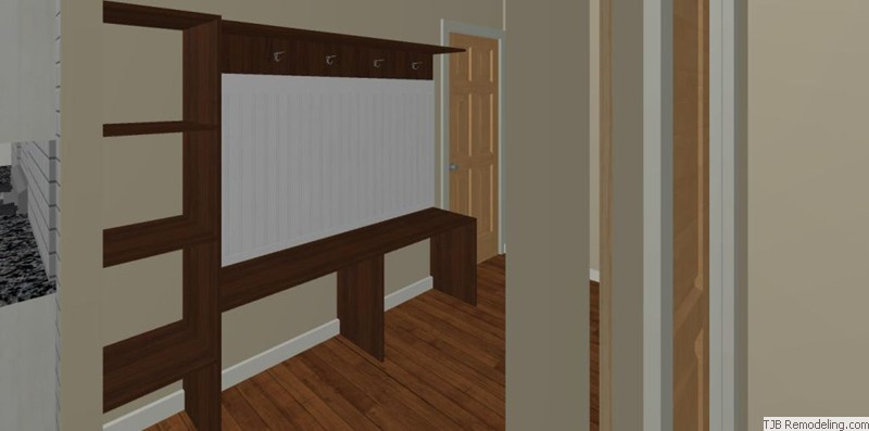Mud Room Bench Design Plan