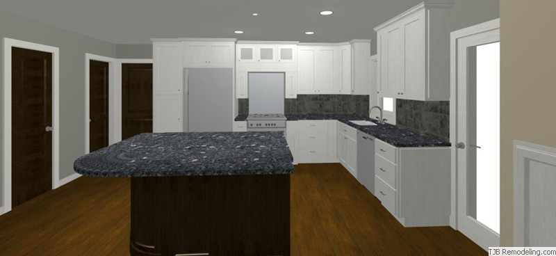 Kithen Remodel Open Plan Design