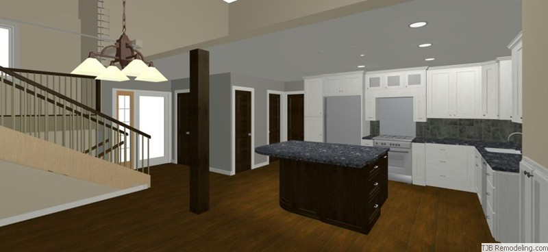 Kithen Remodel Design View to Loft