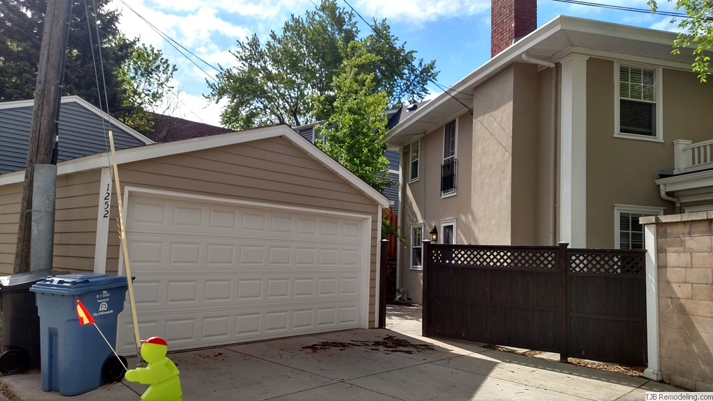 Garage was detached  before kitchen and bedroom addition