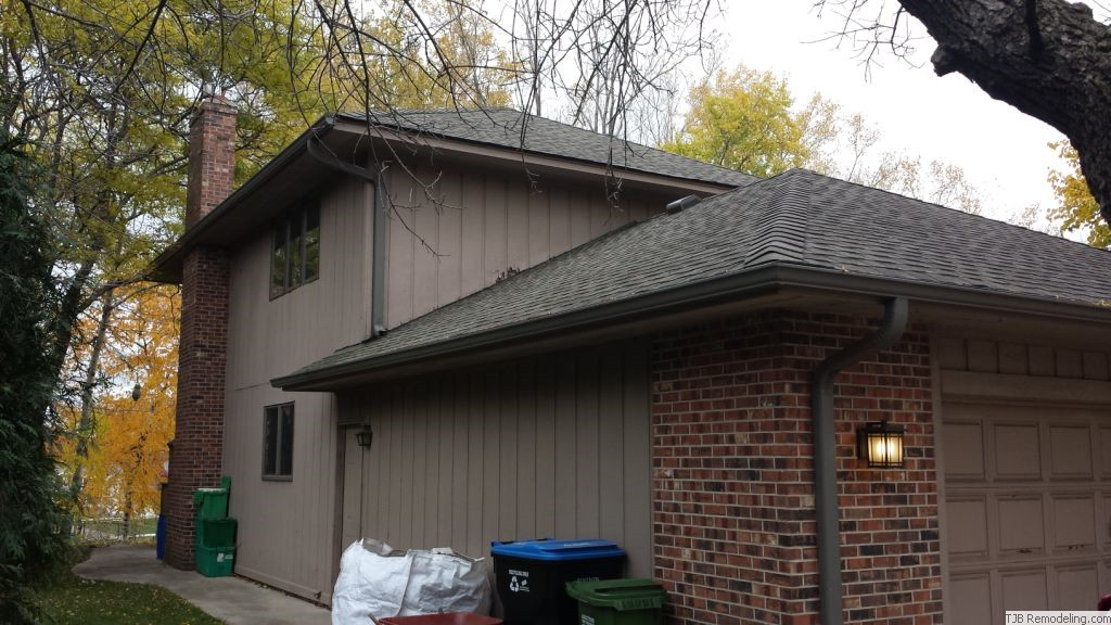 Before - siding & side of garage