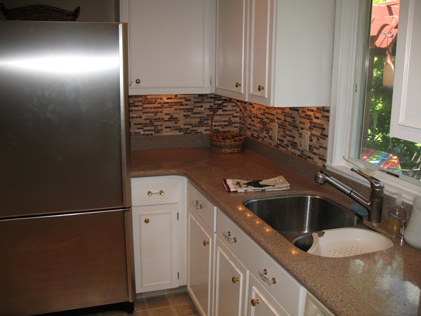 Kitchen Before Remodel - stainless steel sink to be replaced with farmhouse sink