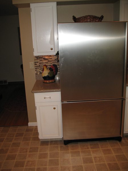 Kitchen Before Remodel - fridge to be replaced with 36″ built in fridge