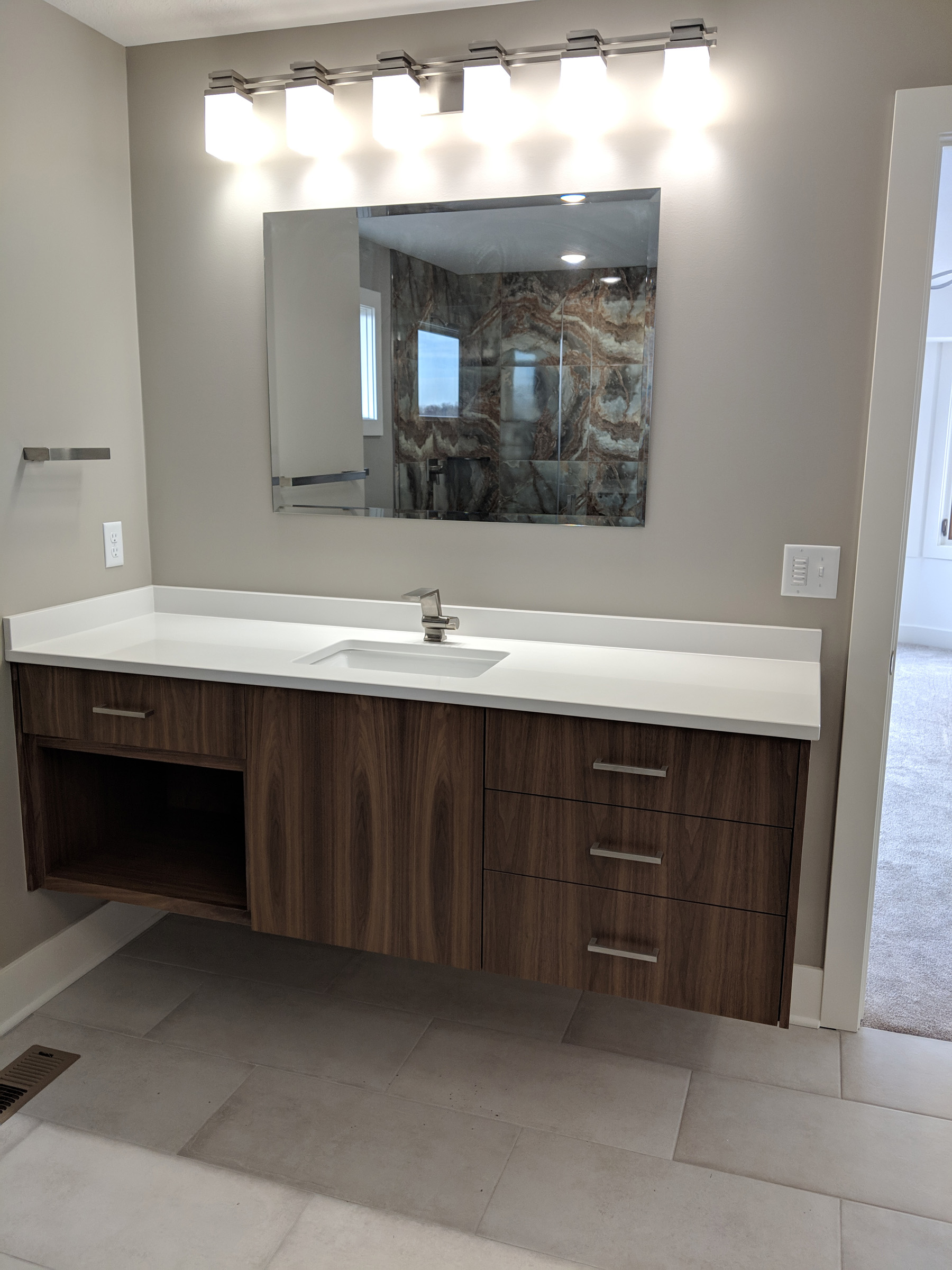 Floating vanity with storage