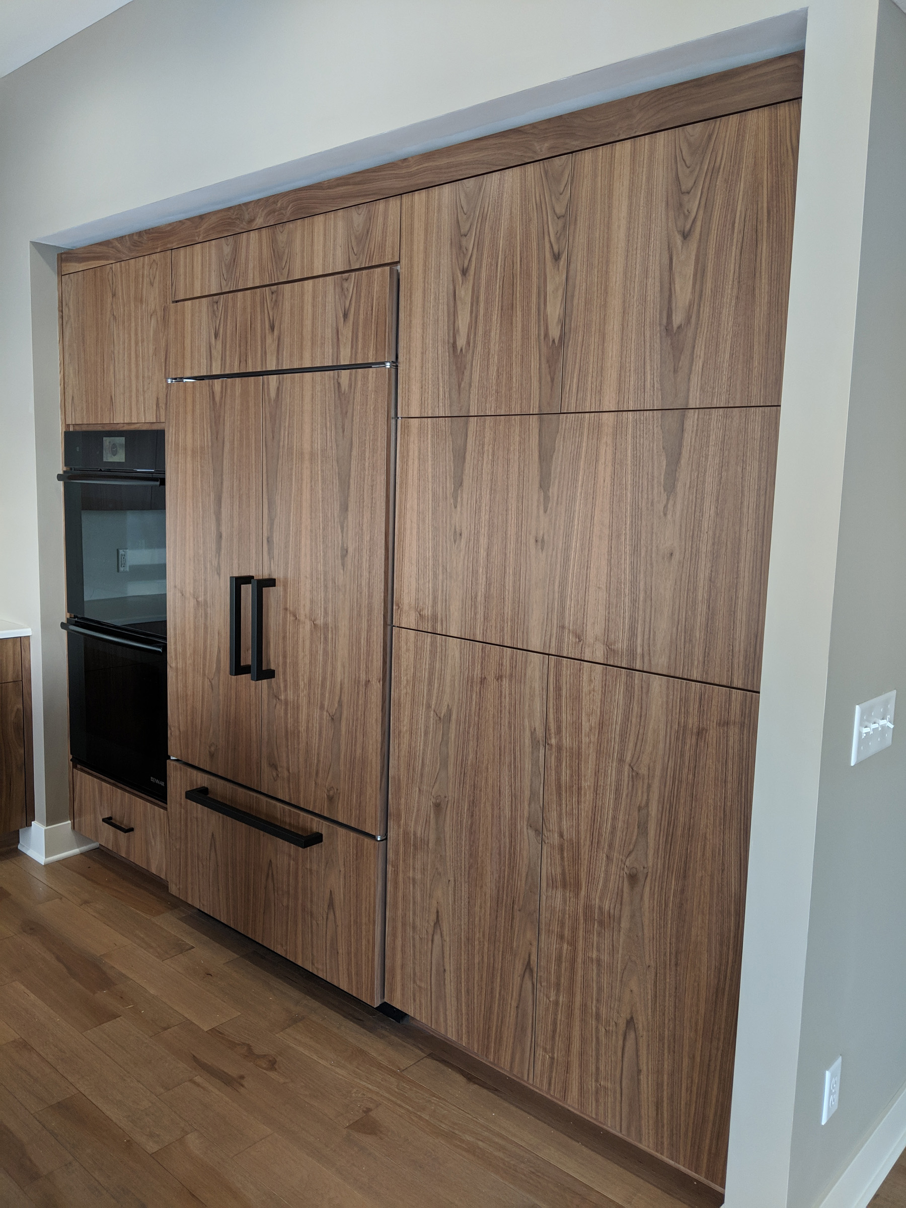 Paneled fridge and freezer