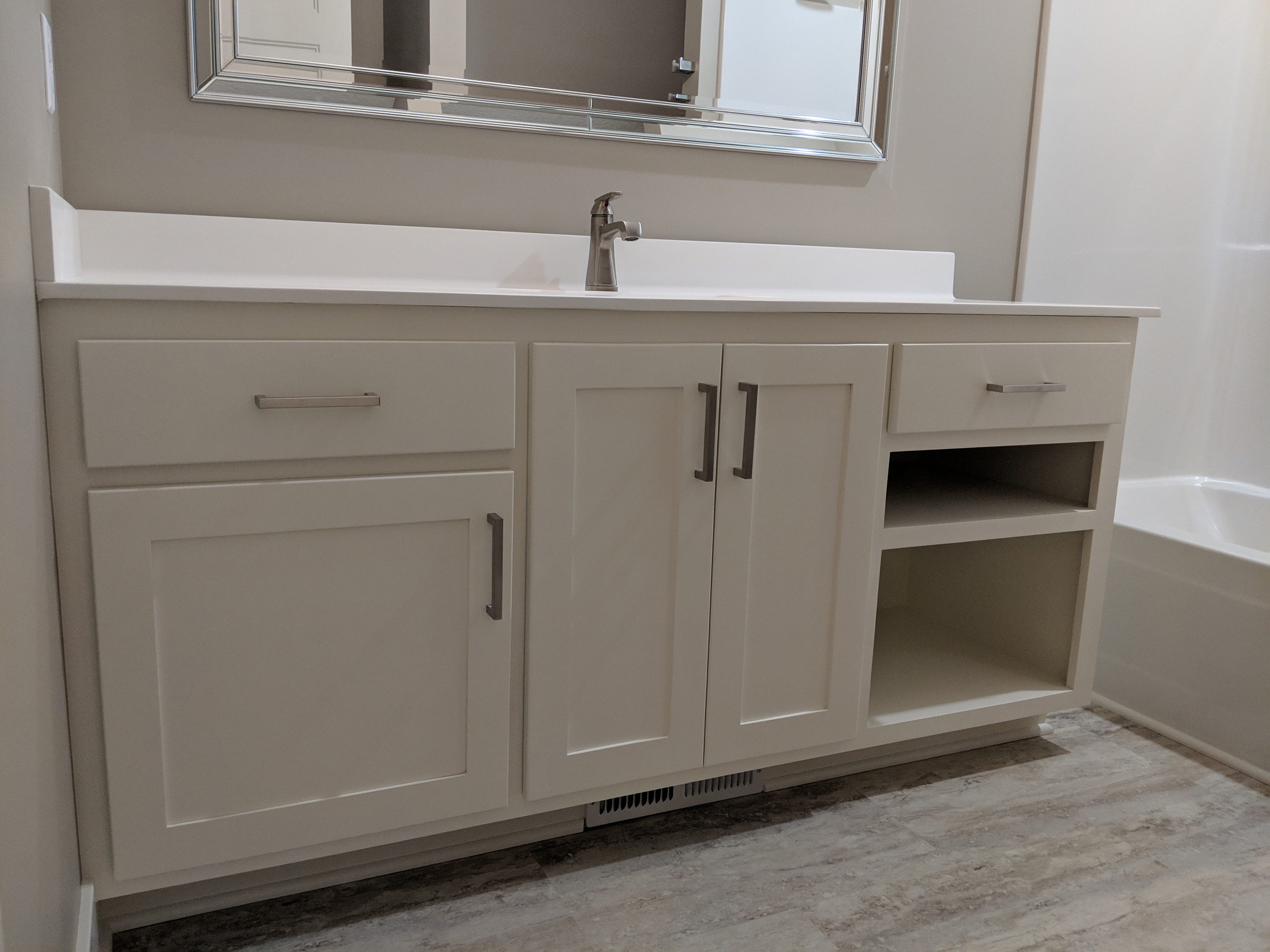 Enameled bath vanity