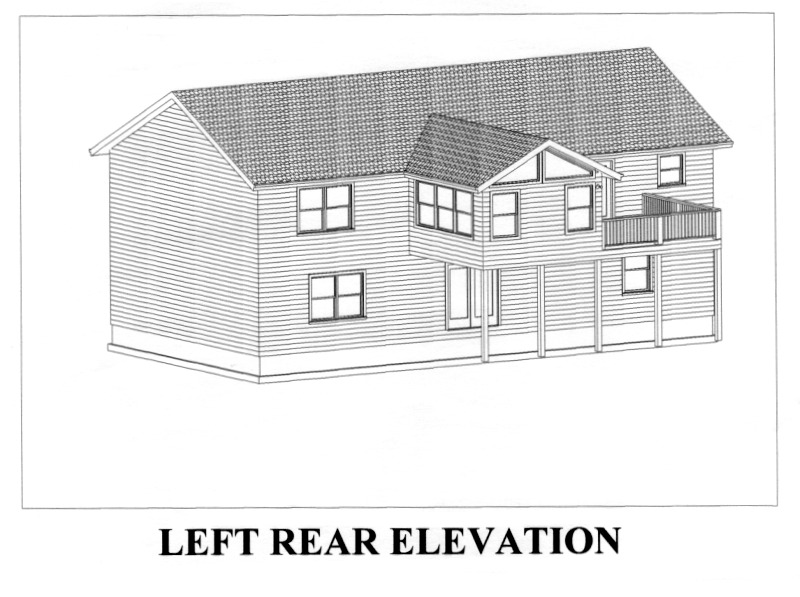 CAD view left rear elevation